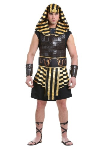 Adult Deluxe Anubis Costume Egyptian Halloween Horror Fancy Dress Outfit New