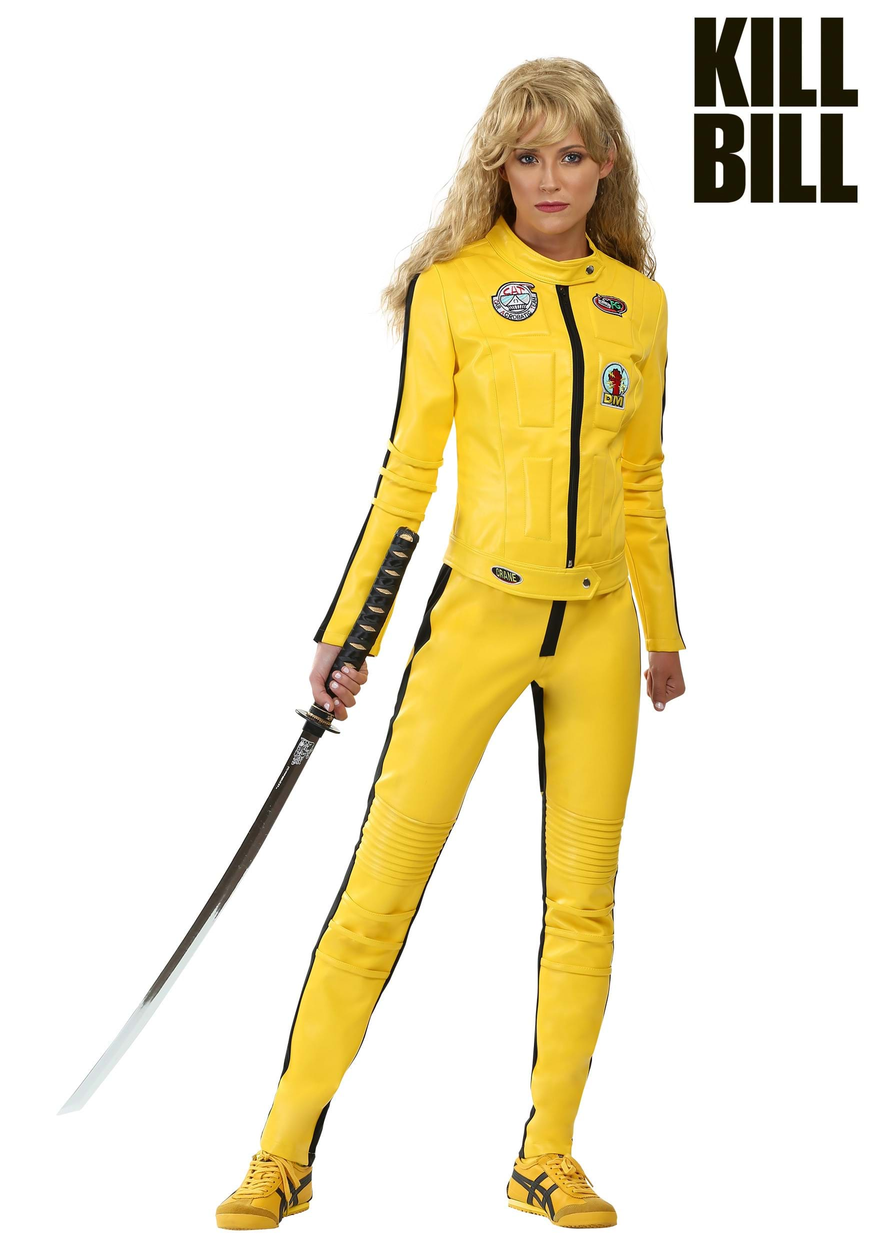 kill bill beatrix kiddo motorcycle suit costume