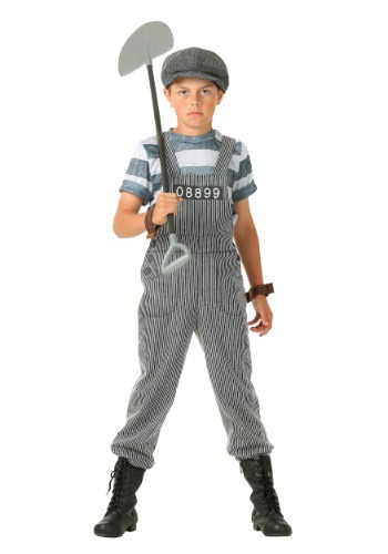 Boy's Chain Gang Prisoner Costume FUN2254CH-L