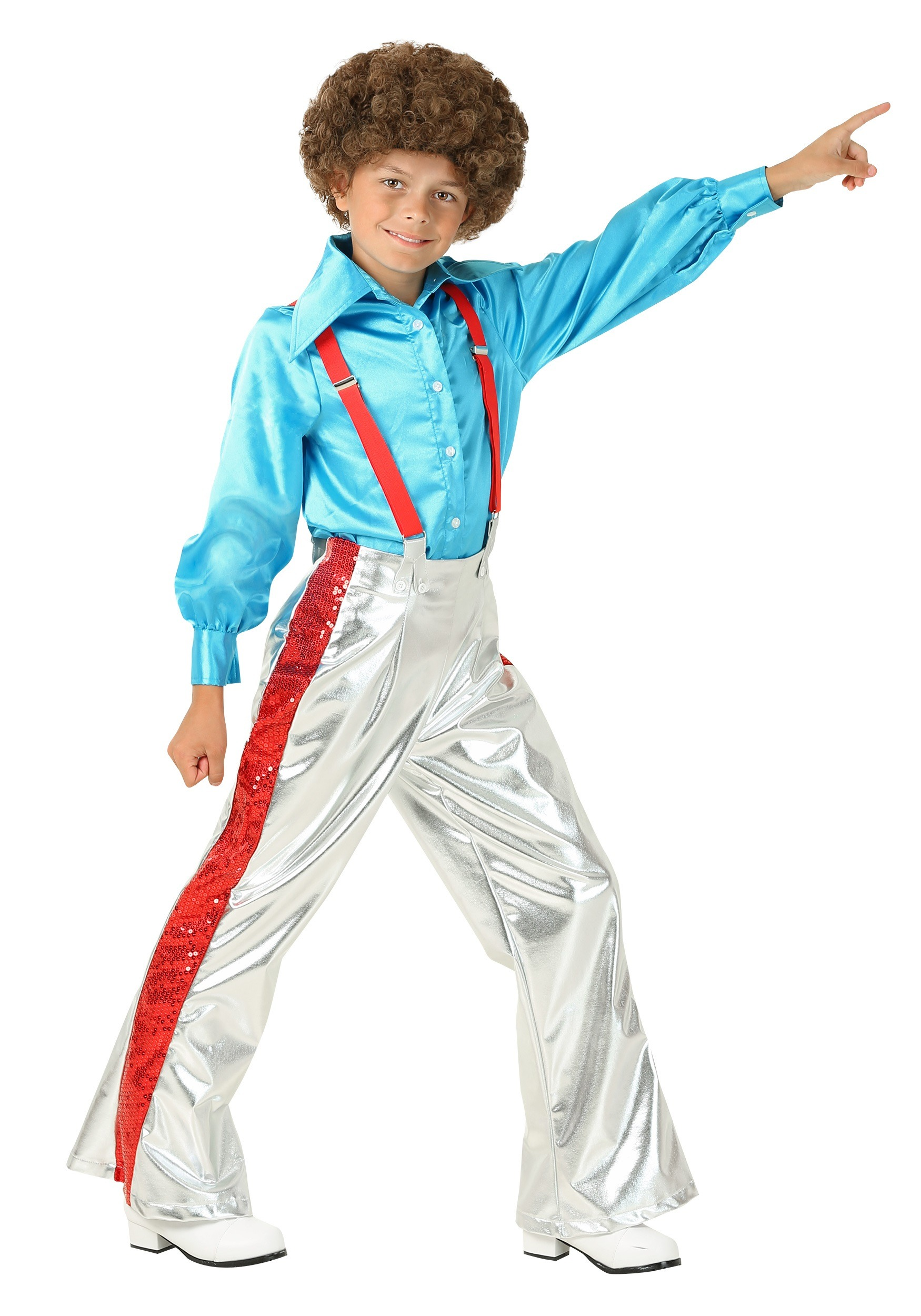 Boyu0027s Funky Disco Costume  sc 1 st  Halloween Costumes & Kids Disco Costumes u0026 Outfits - HalloweenCostumes.com