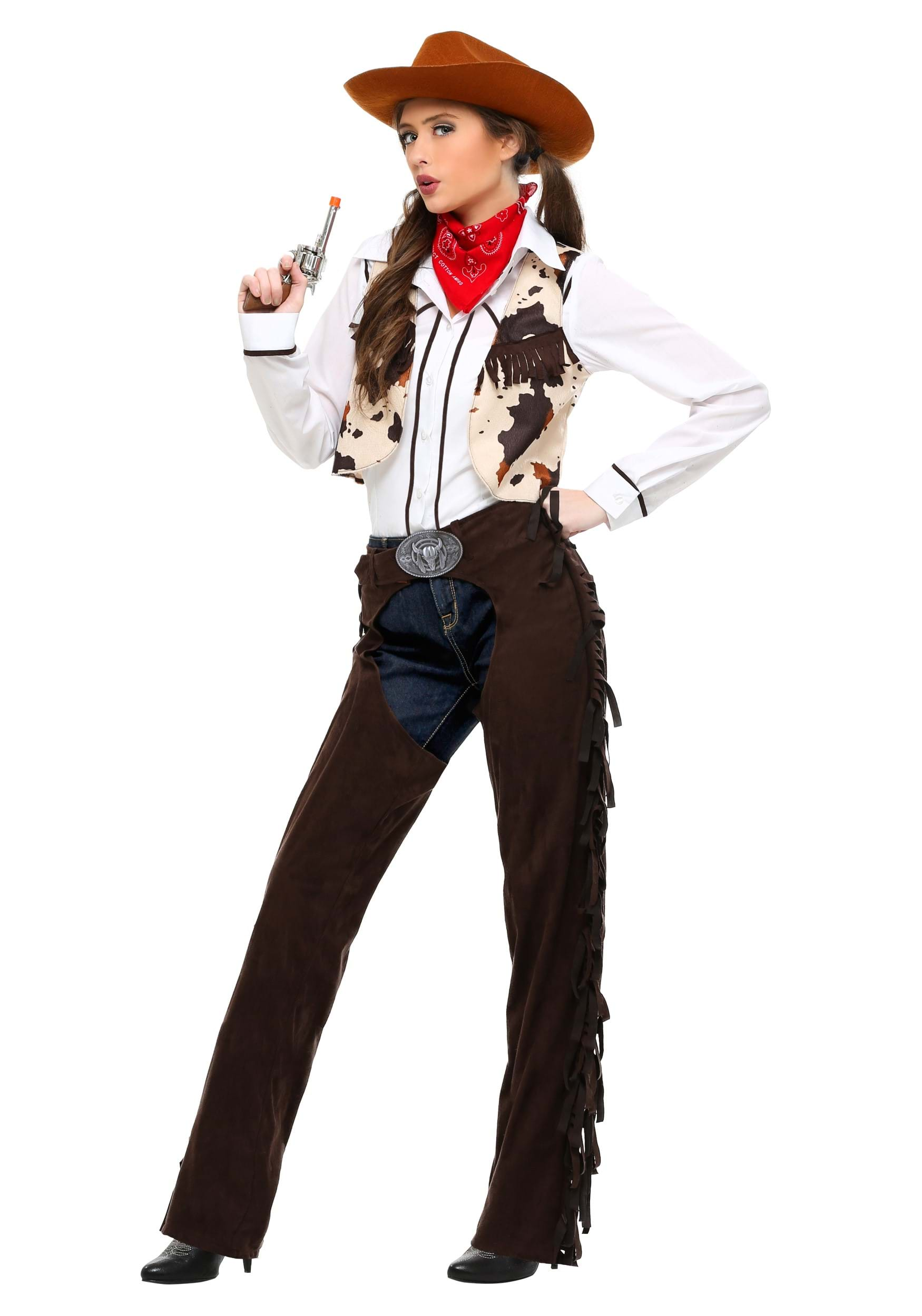 Cowgirl Chaps Adult Costume  sc 1 st  Halloween Costumes & Adult Cowgirl Chaps Costume