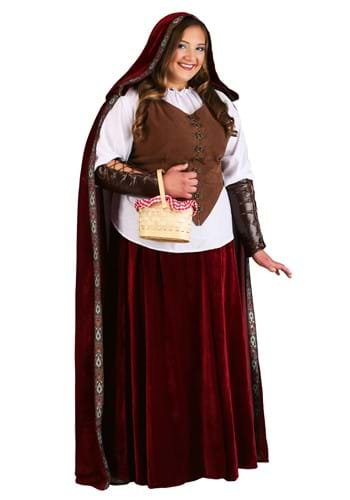 Deluxe Red Riding Hood Plus Size Costume for Women upd