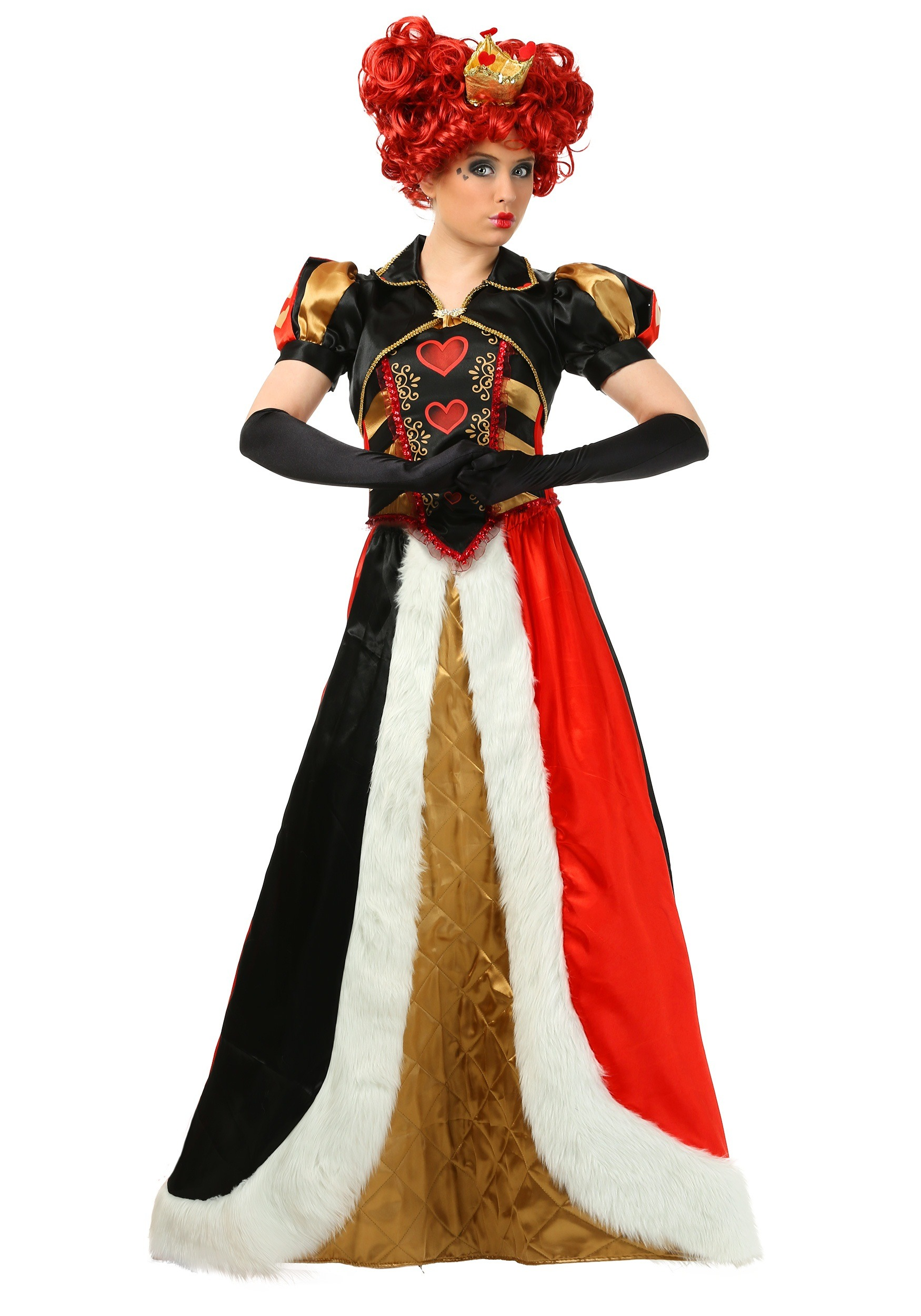 women 39 s plus size elite queen of hearts costume 1x 2x 3x 4x. Black Bedroom Furniture Sets. Home Design Ideas