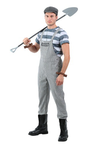 Click Here to buy Mens Chain Gang Prisoner Plus Size Costume from HalloweenCostumes, USA Funds & Shipping