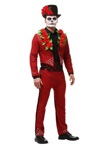Adult Men's Plus Size Day of the Dead Costume FUN1176PL