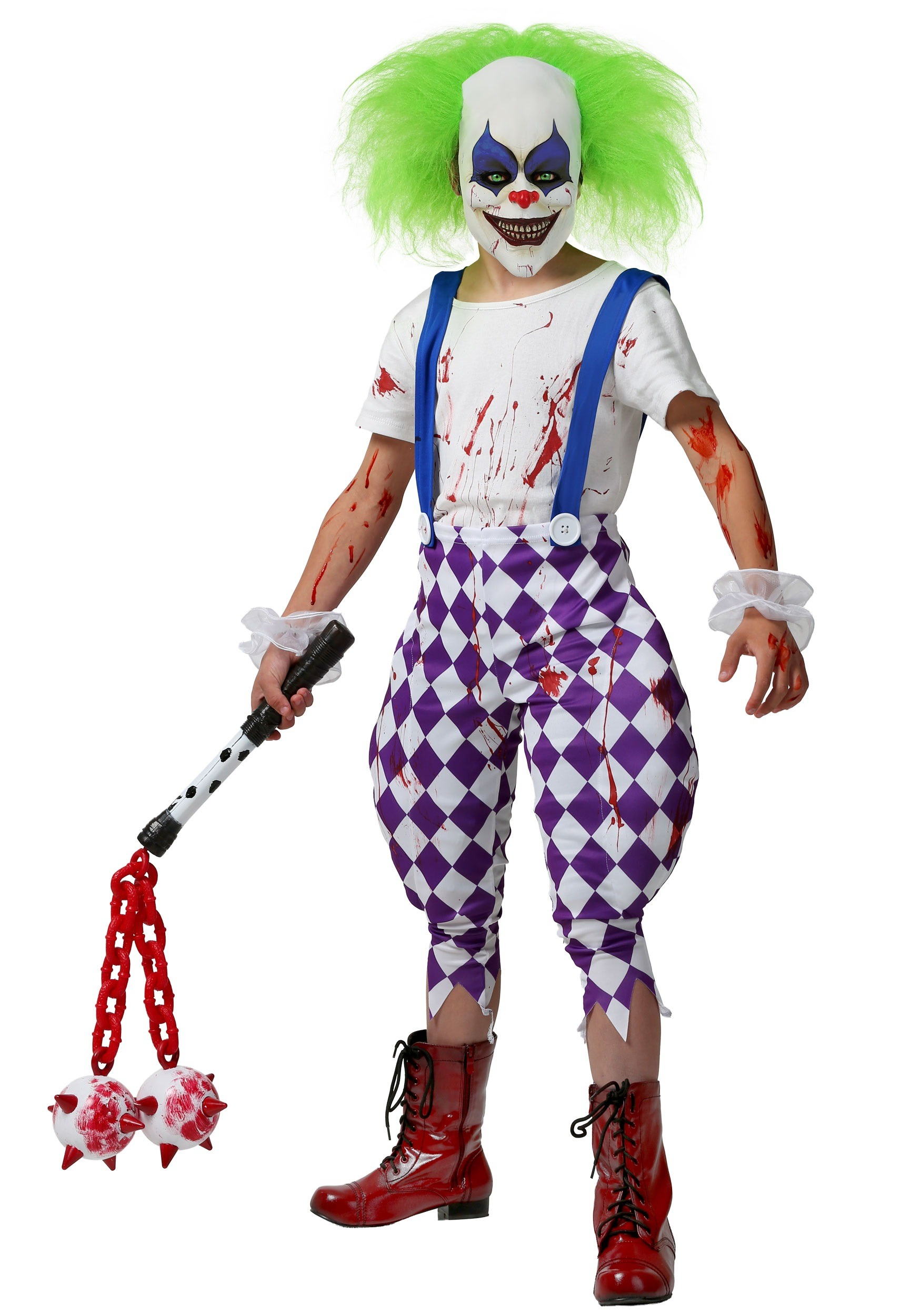 Halloween Clown.Kids Nightmare Clown Costume