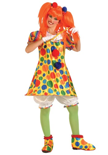 Adult Giggles the Clown Costume. Product Description