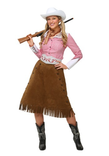 Plus Size Rodeo Cowgirl Costume-5384