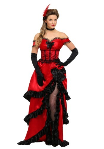 Click Here to buy Adult Saloon Girl Costume from HalloweenCostumes, USA Funds & Shipping