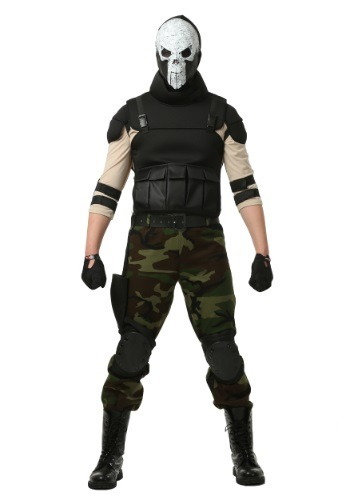Click Here to buy Adult Skull Military Man Costume from HalloweenCostumes, CDN Funds