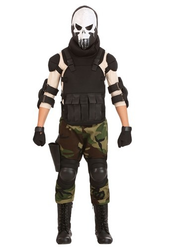 Click Here to buy Skull Military Man Boys Costume from HalloweenCostumes, CDN Funds