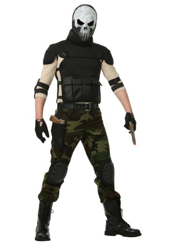 Skull Military Man Plus Size Costume