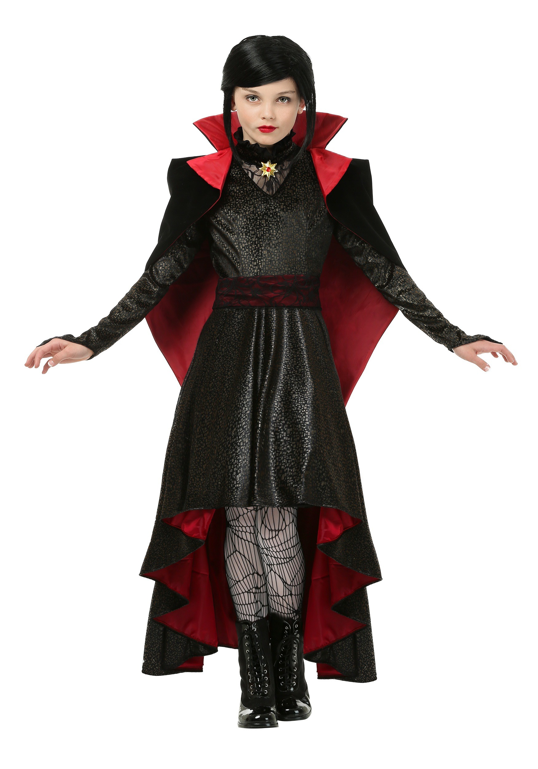 Halloween Vampire Costume Kids.Girls Vampire Vixen Costume