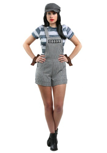 Click Here to buy Womens Chain Gang Prisoner Costume from HalloweenCostumes, USA Funds & Shipping