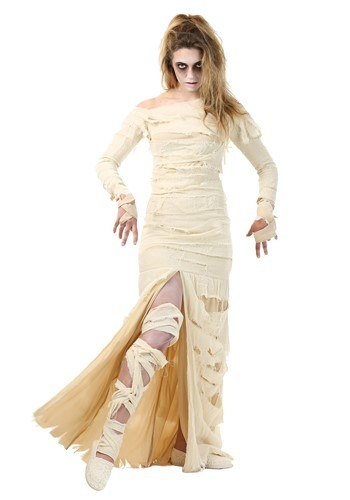 Plus Size Full Length Mummy Costume for Women