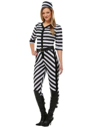 Click Here to buy Womens Jailbird Beauty Costume from HalloweenCostumes, USA Funds & Shipping