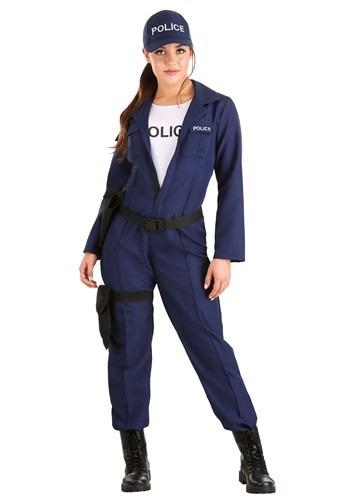 Womens Tactical Cop Jumpsuit Costume