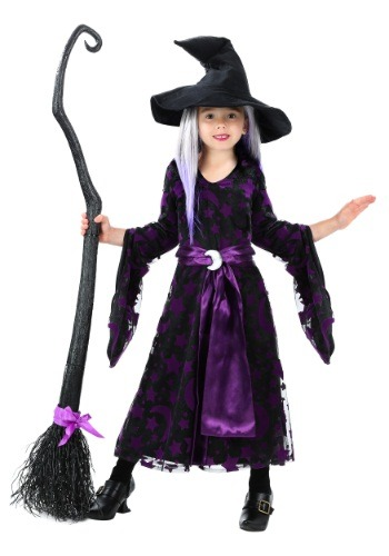 6c451abc5de Toddler Girls Purple Moon Witch Costume