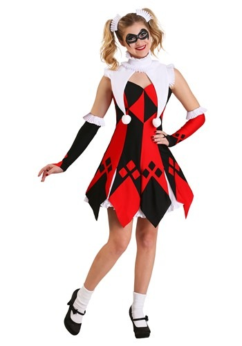 Cute Court Jester Women's Costume Update Main
