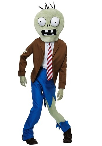 Click Here to buy PLANTS VS ZOMBIES Zombie Adult Costume from HalloweenCostumes, USA Funds & Shipping