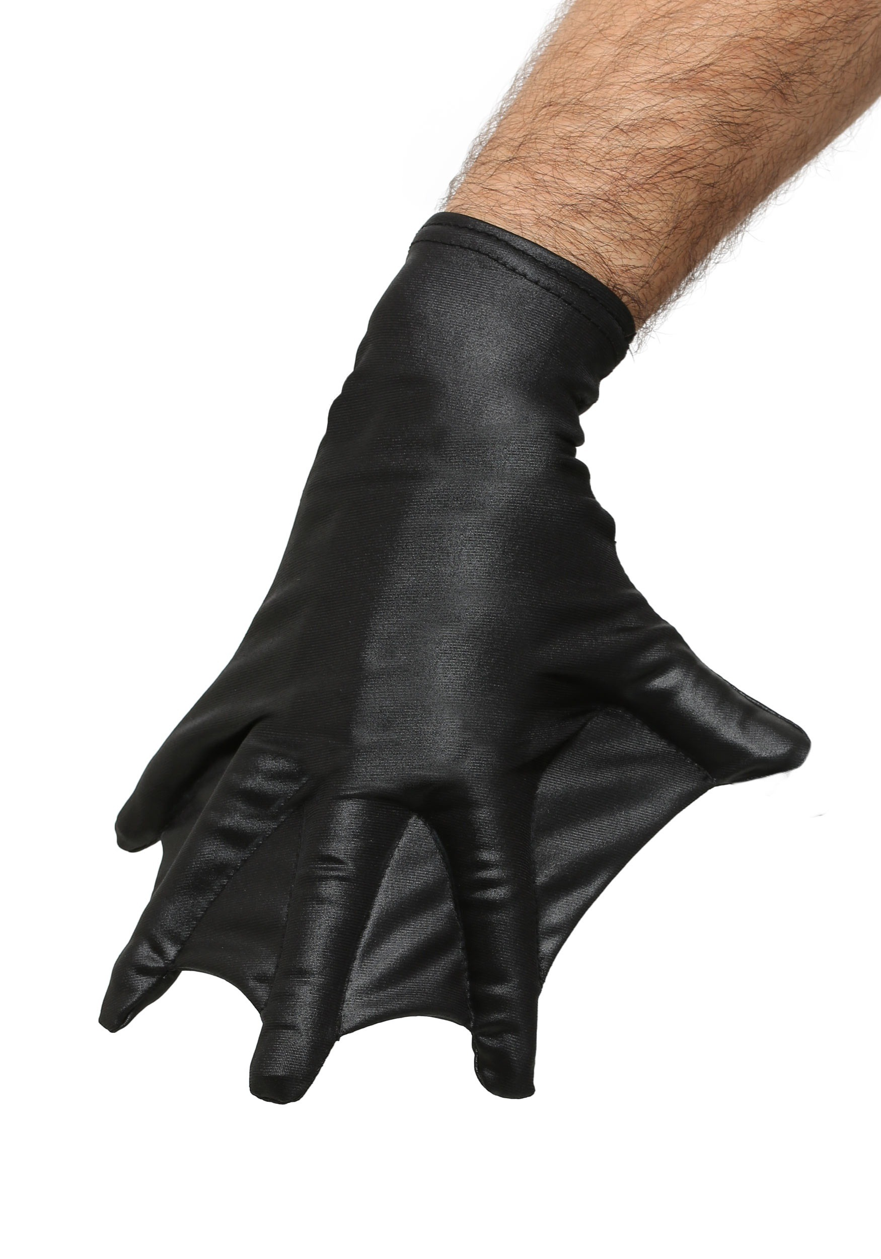 Adult Black Webbed Gloves FUN0004AD