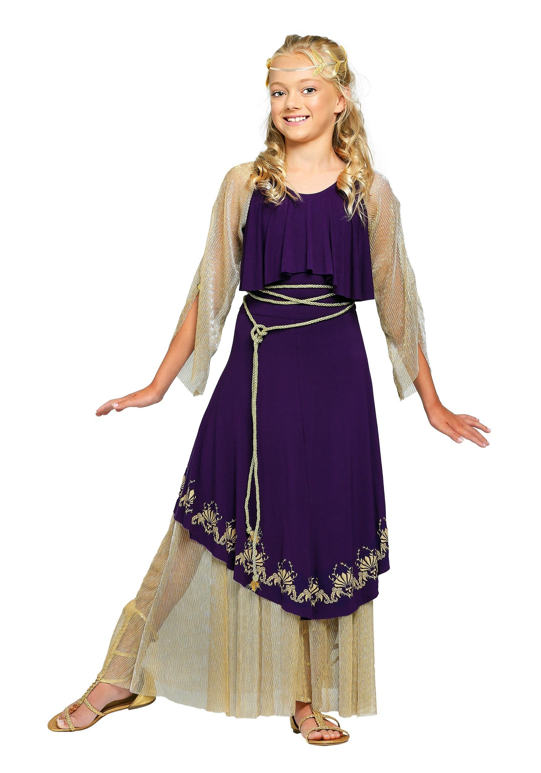 Aphrodite Goddess Costume for Girls Aphrodite Greek Mythology Costume