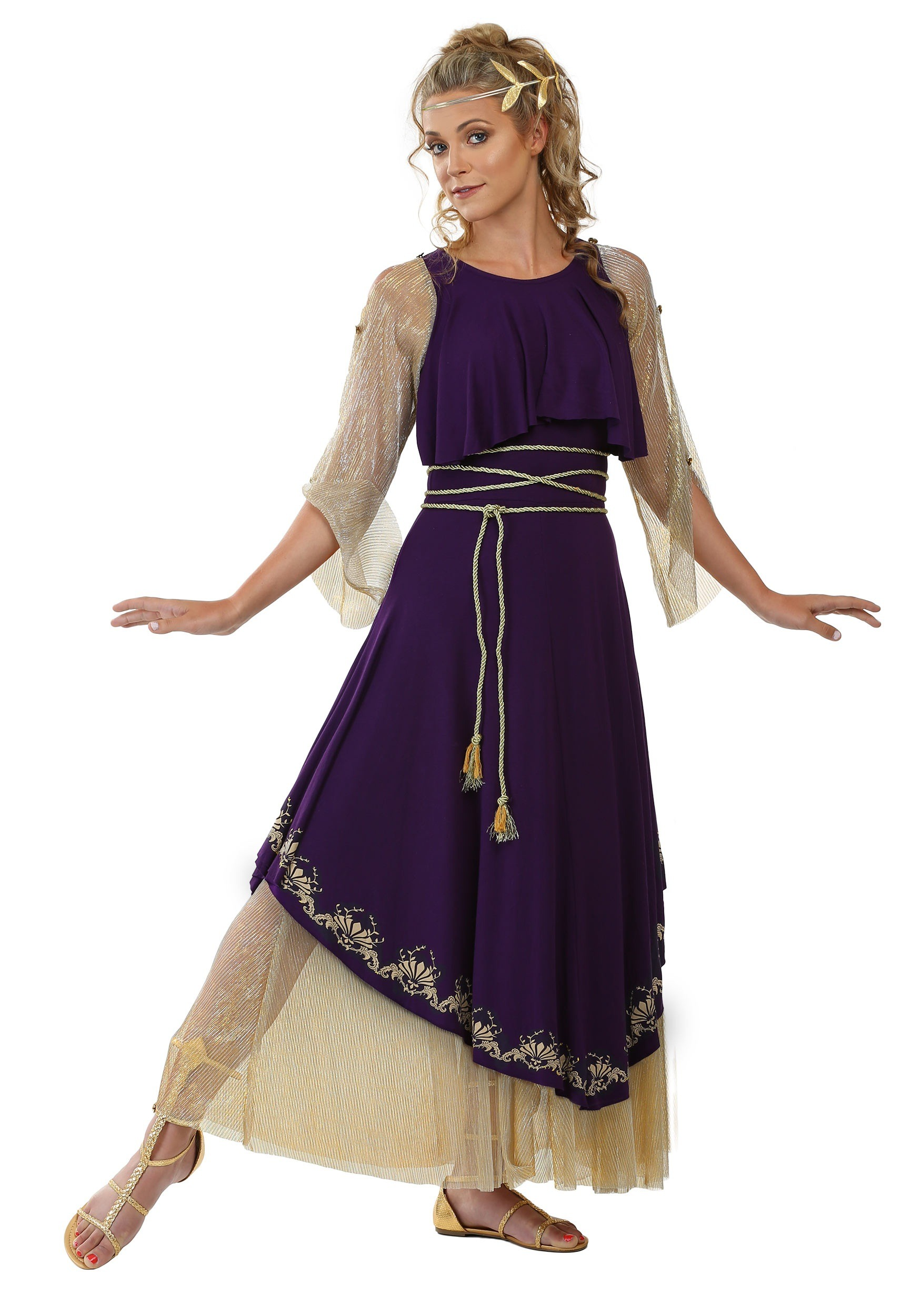 Aphrodite Goddess Plus Size Women's CostumeGreek Goddess Aphrodite With Clothes
