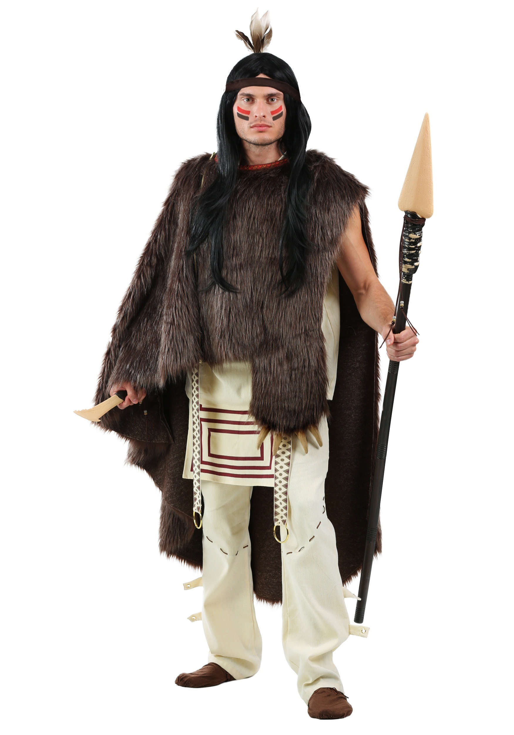 Deluxe Native Chief Mens Costume  sc 1 st  Halloween Costumes & Native American Costumes for Adults
