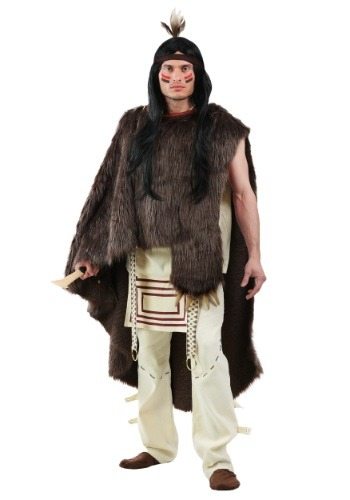 Click Here to buy Deluxe Native Warrior - Plus Size Mens Costume from HalloweenCostumes, USA Funds & Shipping