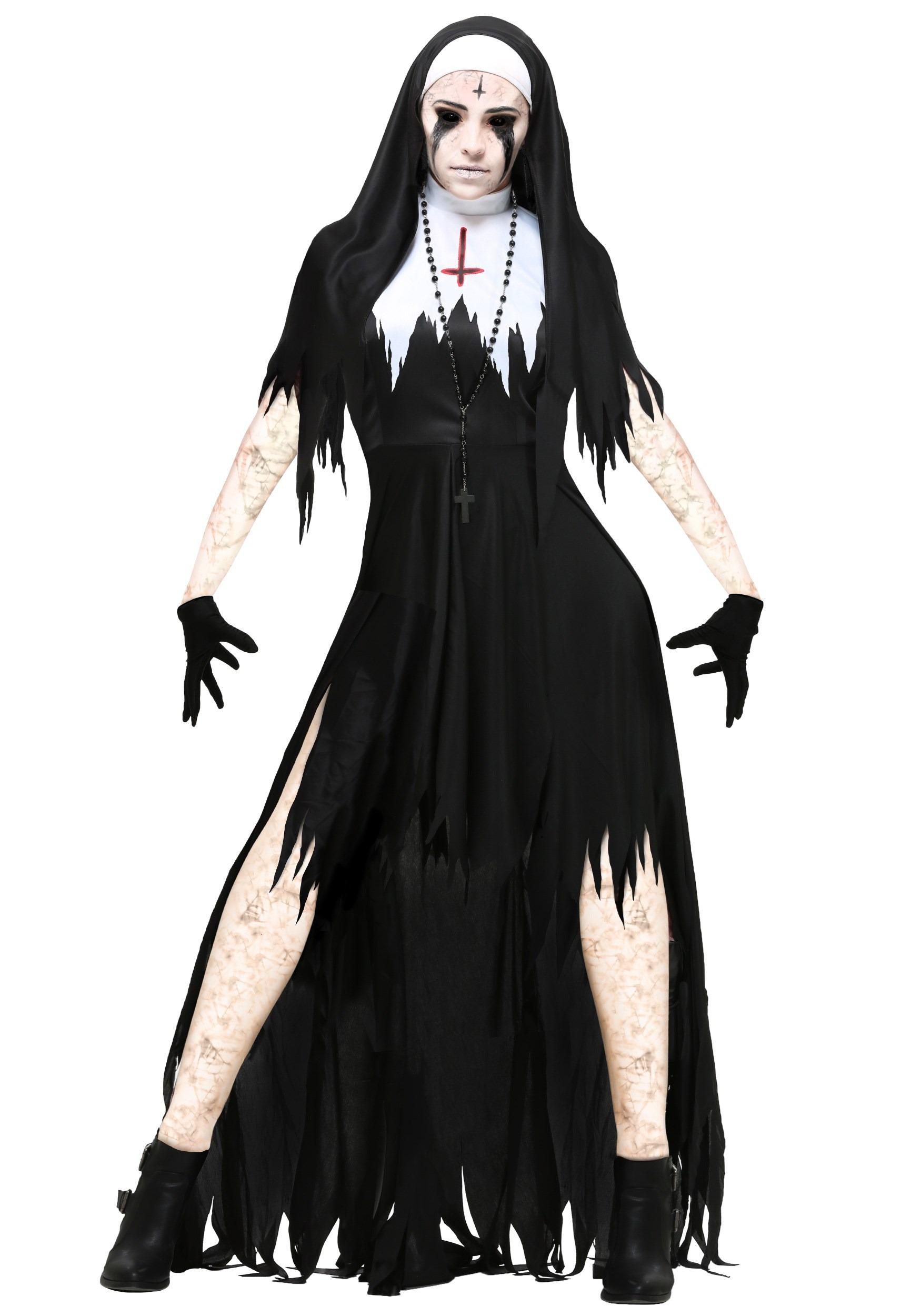 Demon Nun Costume Black//White