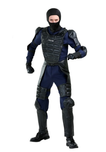 Click Here to buy Riot Police Officer Costume for Adults from HalloweenCostumes, USA Funds & Shipping