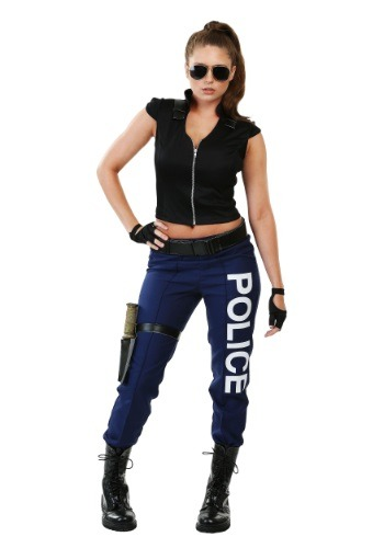 Click Here to buy Womens Tactical Police Costume from HalloweenCostumes, USA Funds & Shipping