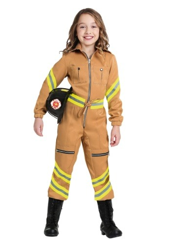 Click Here to buy Firefighter Jumpsuit Girls Costume from HalloweenCostumes, USA Funds & Shipping