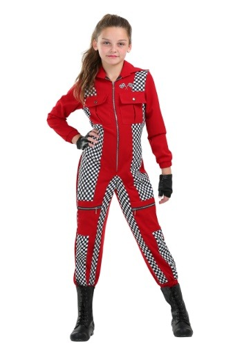 Click Here to buy Racer Jumpsuit Girls Costume from HalloweenCostumes, CDN Funds