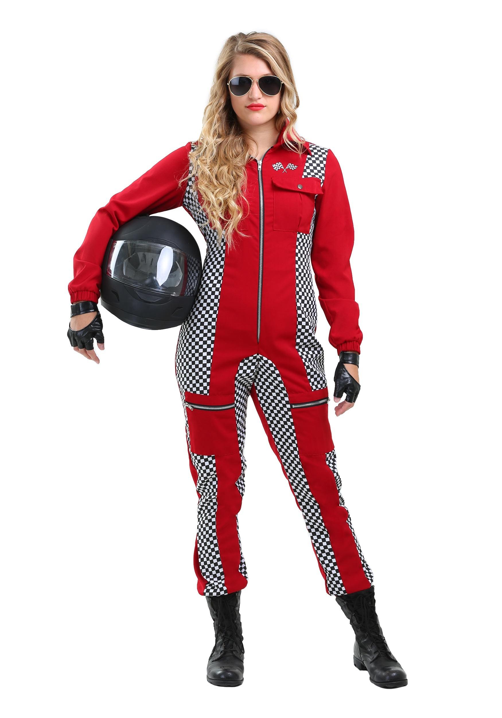 Racer Jumpsuit Plus Size Costume for Women