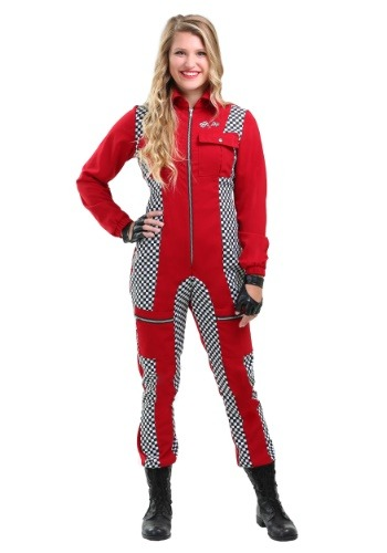 Click Here to buy Racer Jumpsuit Plus Size Womens Costume from HalloweenCostumes, CDN Funds