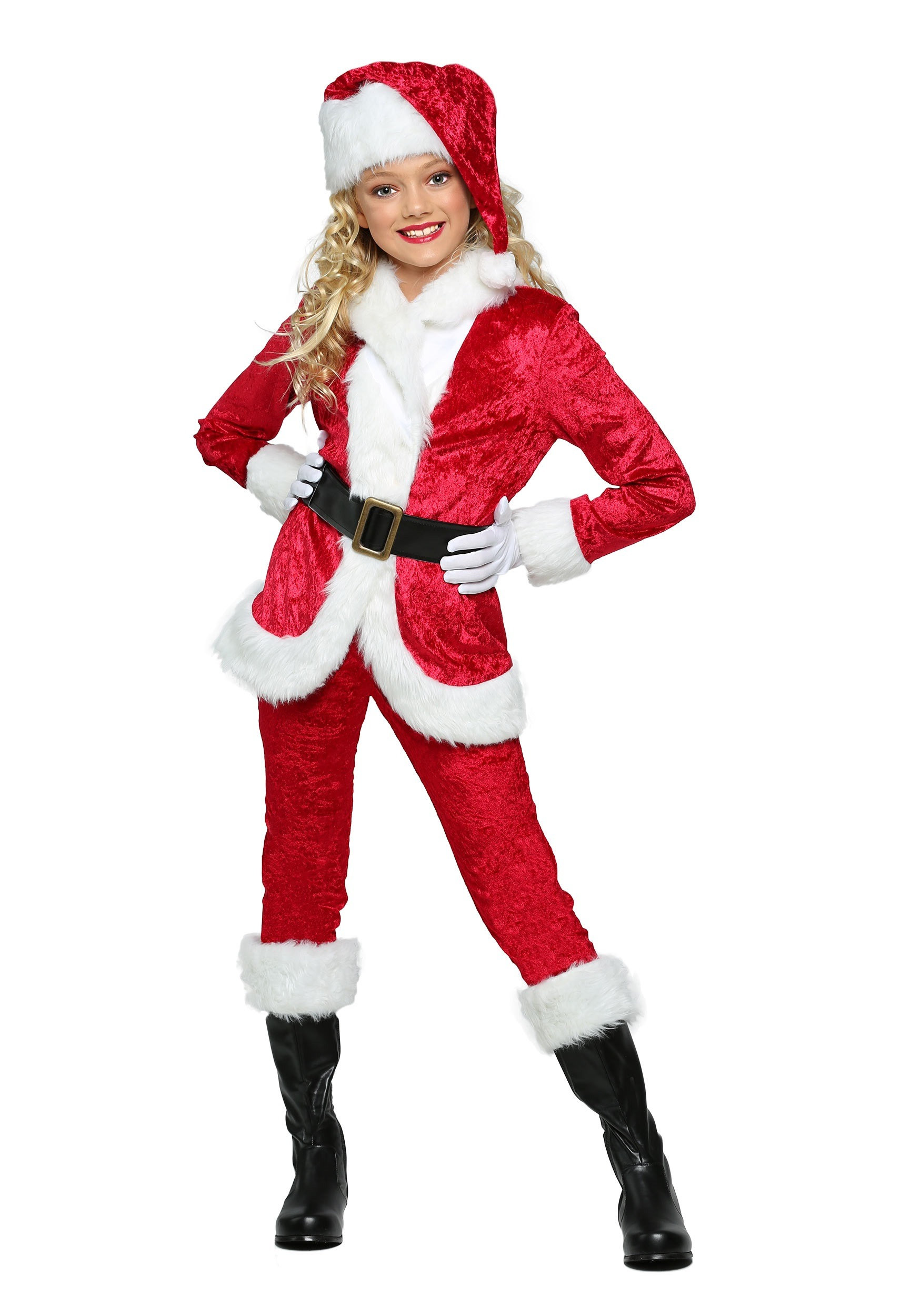 Santa and Mrs. Claus Costumes for Girls -- Santa Claus would be lost without Mrs. Claus by his side, and our girls Mrs. Santa Claus costumes are the perfect counterpart to boys Santa costumes! Frilly and festive, these girls costumes bring fun and magic to your family's Christmas festivities.