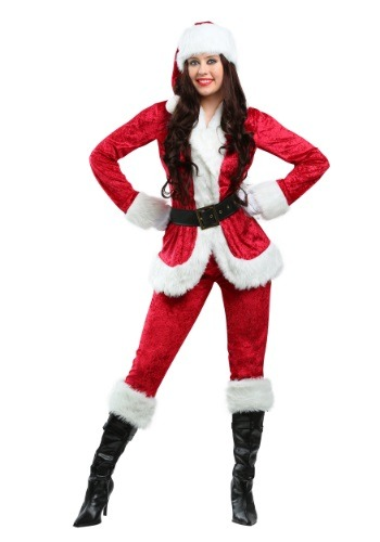 Click Here to buy Plus Size Sweet Santa Womens Costume 1X 2X 3X from HalloweenCostumes, CDN Funds