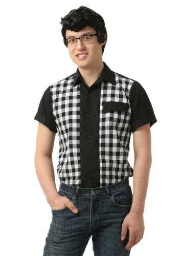 Click Here to buy Mens 50s Bowler Shirt from HalloweenCostumes, CDN Funds