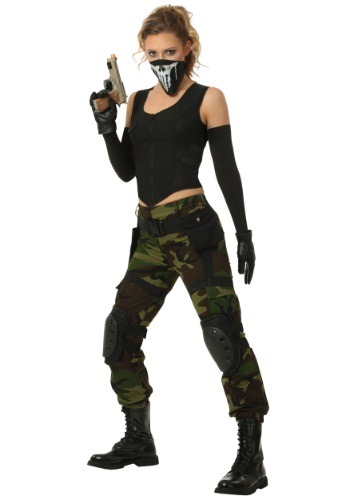 Click Here to buy Womens Fighting Soldier Costume from HalloweenCostumes, USA Funds & Shipping