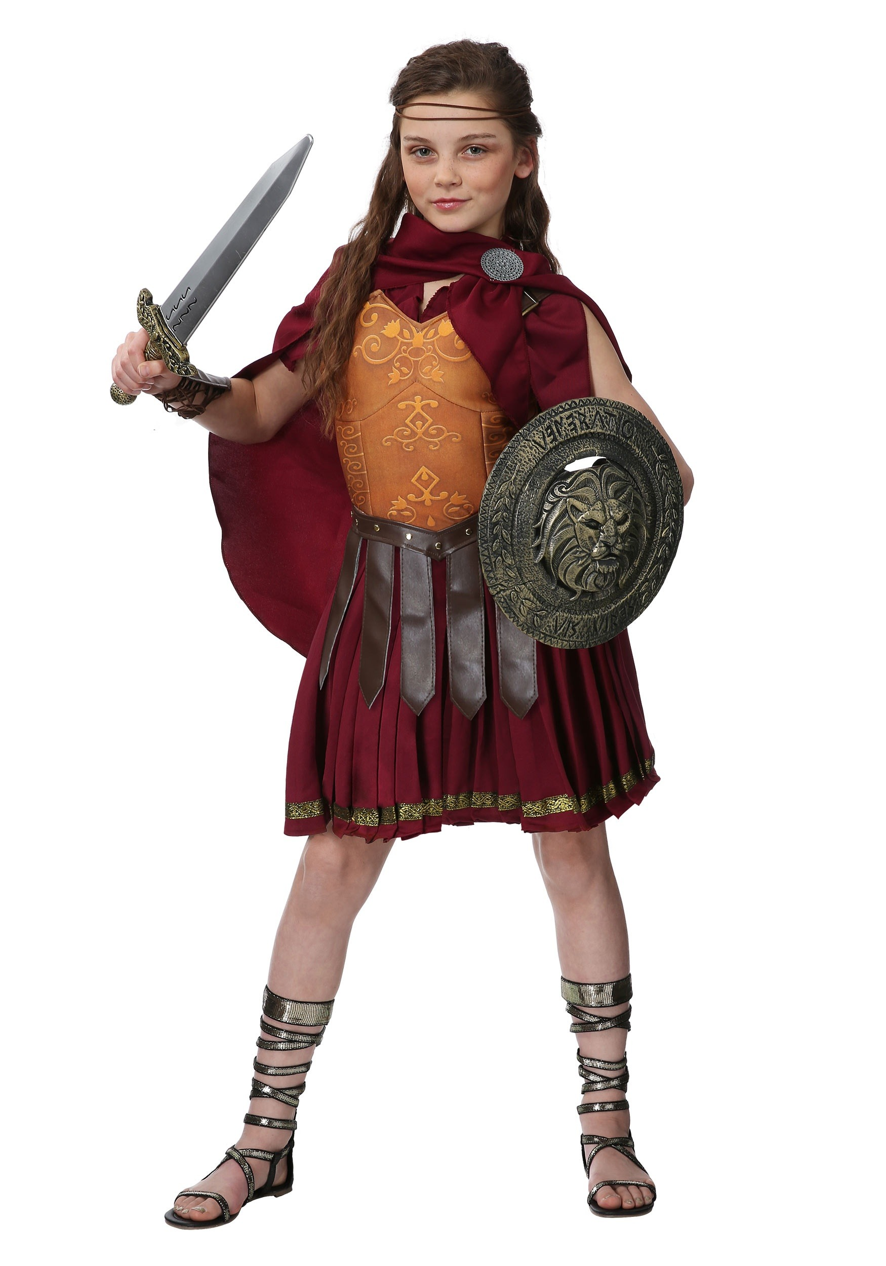 Gladiator Girls Costume  sc 1 st  Halloween Costumes & Gladiator Costume for Girls