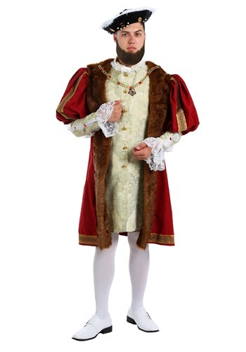 King Henry Costume for Plus Size Men