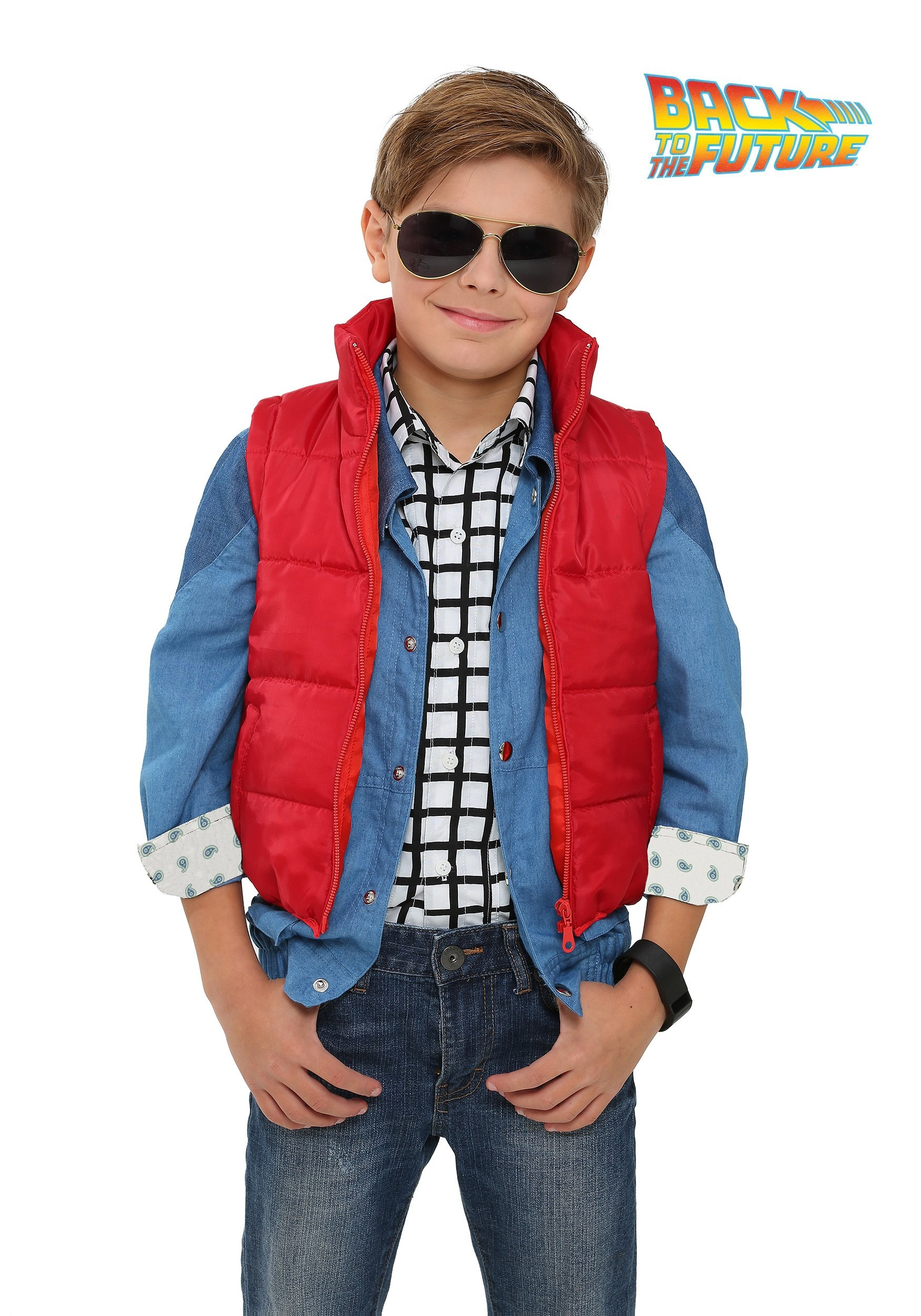 back to the future child marty mcfly vest costume