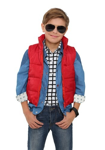 Click Here to buy Back to the Future Kids Marty McFly Vest Costume from HalloweenCostumes, CDN Funds