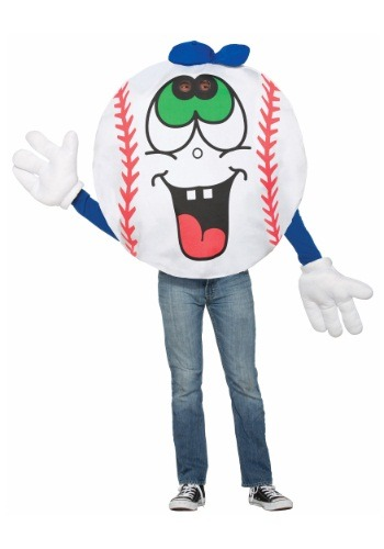 Click Here to buy Adult Baseball Mascot Costume from HalloweenCostumes, USA Funds & Shipping