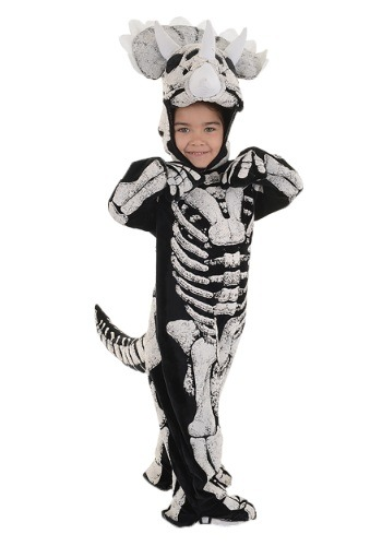 Toddler/Child Triceratops Fossil Costume for Boys