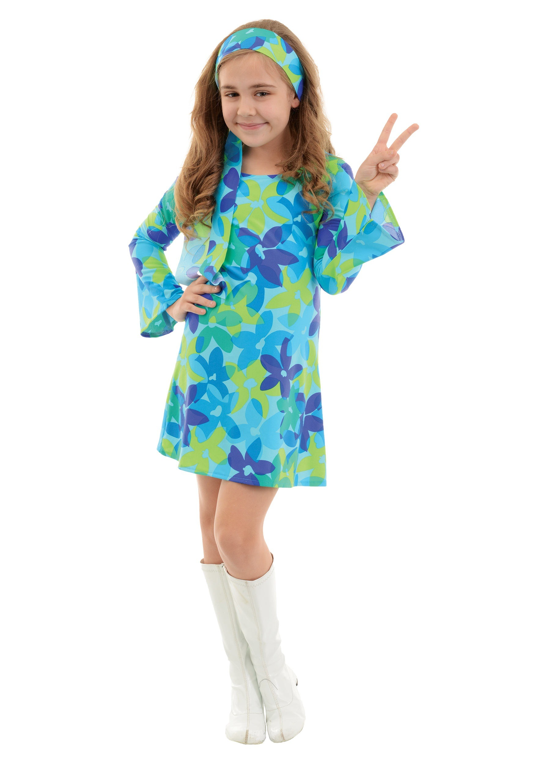 sc 1 st  Halloween Costumes & Child Harmony Hippie Costume