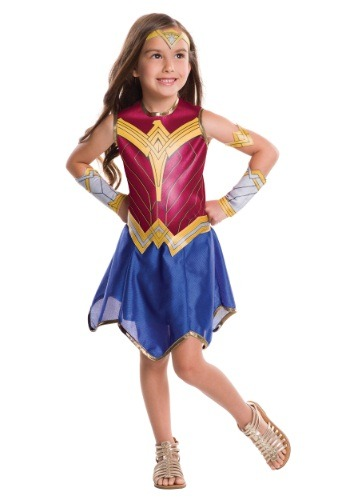 Click Here to buy Kids Dawn of Justice Wonder Woman Costume from HalloweenCostumes, USA Funds & Shipping