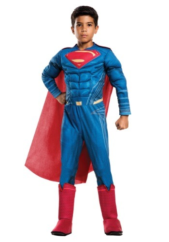 Click Here to buy Deluxe Kids Dawn of Justice Superman Costume from HalloweenCostumes, USA Funds & Shipping