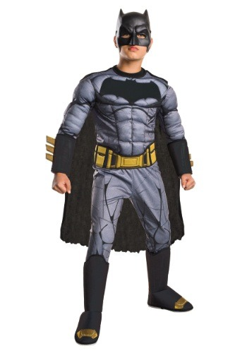 Click Here to buy Deluxe Kids Dawn of Justice Batman Costume from HalloweenCostumes, USA Funds & Shipping